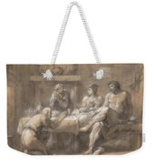 Jupiter And Mercury In The House Of Baucis And Philemon Weekender Tote Bag