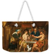 Jupiter And Mercury In The House Of Philemon And Baucis Weekender Tote Bag