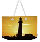 Jupiter Lighthouse Golden Sunrise Weekender Tote Bag