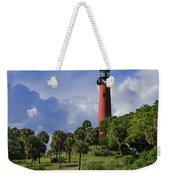 Jupiter Lighthouse Sq Weekender Tote Bag