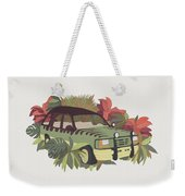 Jurassic Car Weekender Tote Bag