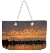 Just A Sliver Of The Sun - Sunrise God Rays At The Marina Weekender Tote Bag