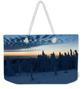 Just Before Sunrise On The Brocken In The Harz Mountains Weekender Tote Bag