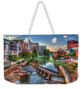 Just Before Sunset 2 Reedy River Falls Park Greenville South Carolina Art Weekender Tote Bag