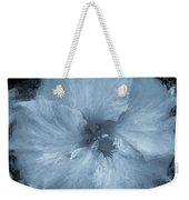 Blue Hibiscus Floral Portrait Weekender Tote Bag