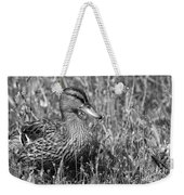 Just Ducky Bw Weekender Tote Bag