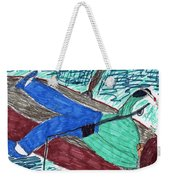 Just Fishin Weekender Tote Bag