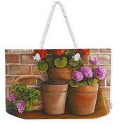 Just Geraniums Weekender Tote Bag