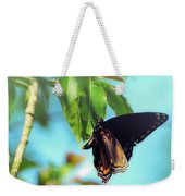 Just Hanging Out - Red-spotted Purple Butterfly Weekender Tote Bag