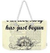 Just Married Wedding Gift Weekender Tote Bag