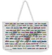Justin Weekender Tote Bag