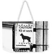 K9 At Work Weekender Tote Bag
