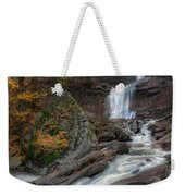 Kaaterskill Falls Autumn Square Weekender Tote Bag