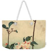 Kaido Ni Shokin II - Small Bird On A Blossoming Branch II Weekender Tote Bag
