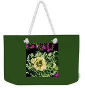 Kale With Petunias Weekender Tote Bag