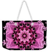 Kaleidoscope 1 With Black Flower Framing Weekender Tote Bag