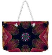 Kaleidoscope Christmas Poinsettia  Weekender Tote Bag
