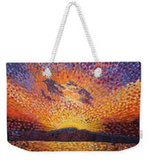Kaleidoscope Sunrise Weekender Tote Bag