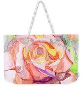 Kaleidoscopic Rose Weekender Tote Bag
