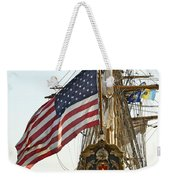 Kalmar Nyckel American Flag Weekender Tote Bag