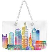 Kansas City Landmarks Watercolor Poster Weekender Tote Bag
