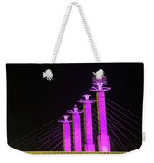 Kansas City Pylons In Pink Weekender Tote Bag
