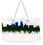Kansas City Skyline Blue  Weekender Tote Bag