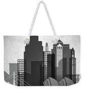 Kansas City Skyline In Black And White Weekender Tote Bag