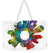Kansas City Small World Cityscape Skyline Abstract Weekender Tote Bag