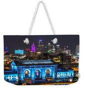 Kansas City Vibrant At Night Weekender Tote Bag