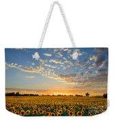 Kansas Sunflowers At Sunset Weekender Tote Bag