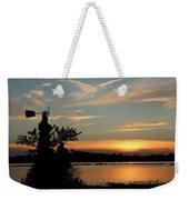 Kansas Sunset And Windmill Weekender Tote Bag
