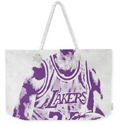 Kareem Abdul Jabbar Los Angeles Lakers Pixel Art Weekender Tote Bag