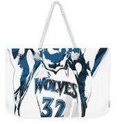 Karl Anthony Towns Minnesota Timberwolves Pixel Art Weekender Tote Bag