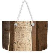 Karnak Pillar Carvings Weekender Tote Bag