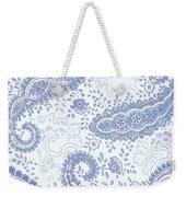 Kasbah Blue Paisley Weekender Tote Bag