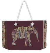 Kashmir Patterned Elephant 2 - Boho Tribal Home Decor  Weekender Tote Bag