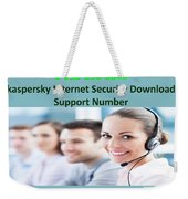 Kaspersky Internet Security Download Support Number Weekender Tote Bag