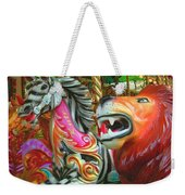 Kate The Zebra And  Lion Carousel  Weekender Tote Bag