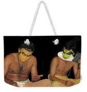 Kathakali Dancers Getting Ready Weekender Tote Bag