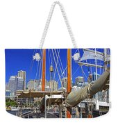 Kathleen Gillett The Artist Cruising Ketch Weekender Tote Bag