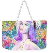 Katy Perry Watercolor, Weekender Tote Bag