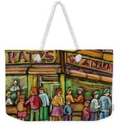 Katzs Delicatessan New York Weekender Tote Bag