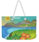 Kauai Hawaii Horizontal Scene Weekender Tote Bag