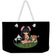 Kawaii China Doll Friends Panda And Tiger Weekender Tote Bag
