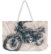 Kawasaki Triple - Kawasaki Motorcycles - 1968 - Motorcycle Poster - Automotive Art Weekender Tote Bag