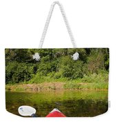Kayak On A Forested Lake Weekender Tote Bag