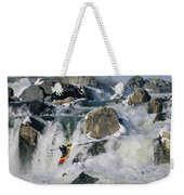 Kayaker Running Great Falls Weekender Tote Bag