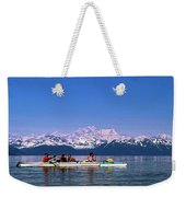 Kayakers In Alaska Weekender Tote Bag
