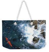 Kayaking Along Coastline Weekender Tote Bag